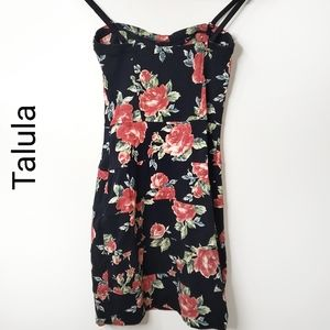 TALULA  black bodycon floral dress in XS